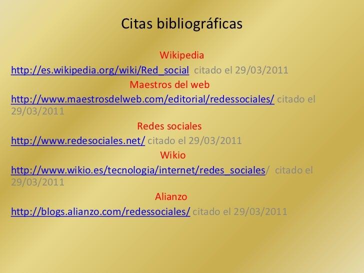 Referencias Bibliograficas Sobre Las Redes Sociales