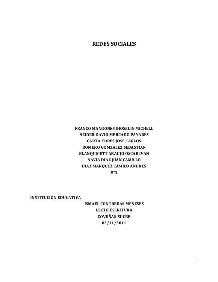 REDES SOCIALES                  FRANCO MANGONES JHOSELIN MICHELL                    NEIDER DAVID MERCADO PAYARES          ...