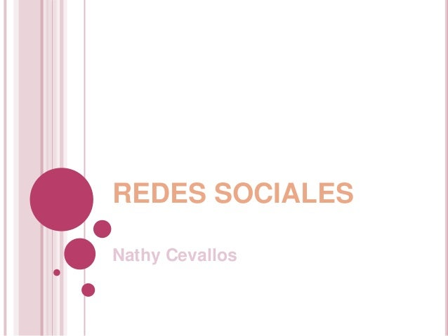 REDES SOCIALESNathy Cevallos