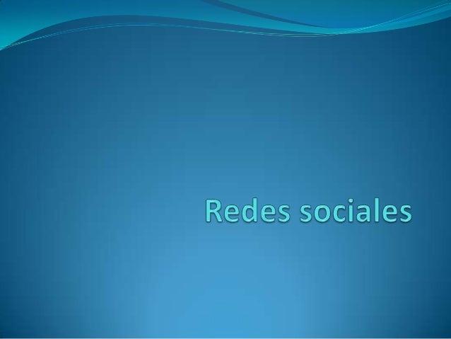 ¿Qué son las redes sociales? Una red social es una estructura social compuesta por un conjunto de actores (tales como ind...