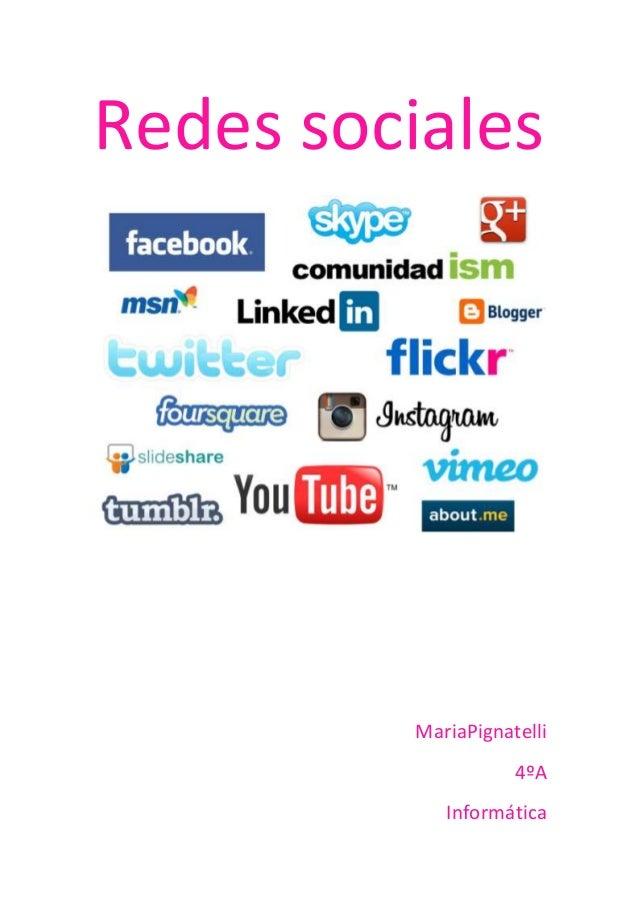 Redes socialesMariaPignatelli4ºAInformática