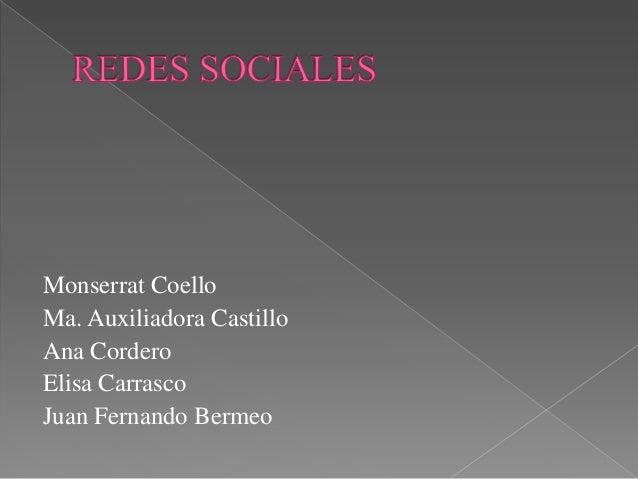 Monserrat Coello Ma. Auxiliadora Castillo Ana Cordero Elisa Carrasco Juan Fernando Bermeo