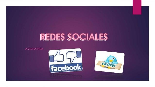 REDES SOCIALES ASIGNATURA