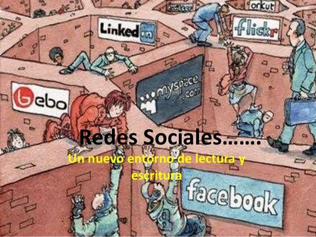 Redes Sociales……. Un nuevo entorno de lectura y escritura 1Prof. Karina López