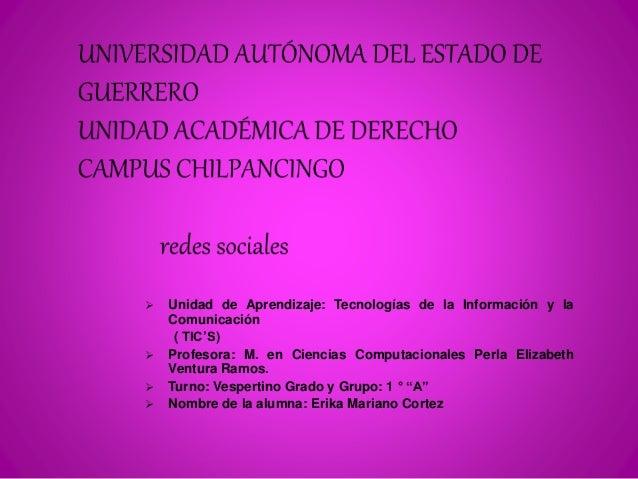  Unidad de Aprendizaje: Tecnologías de la Información y la  Comunicación  ( TIC'S)   Profesora: M. en Ciencias Computaci...
