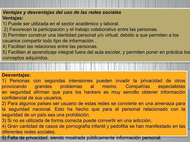 Características de las redes sociales  1) Están basadas en el usuario: Las redes sociales son  construidas y dirigidas por...