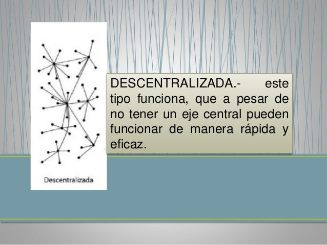 DISTRIBUIDA.- en esta red, se  trabaja en conjunto, ya que no  depende de ningún eje y así  obtener una comunicación  form...