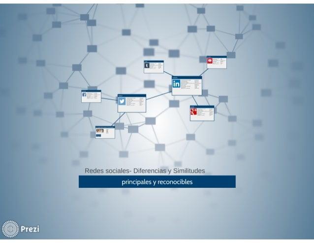 Redes sociales- Diferencias y similitudes  principales y reconocibles
