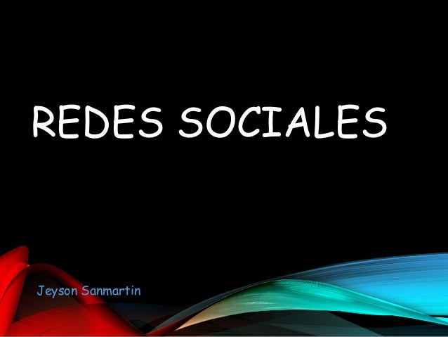 REDES SOCIALES Jeyson Sanmartin