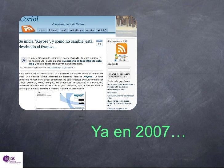 Ya en 2007…<br />