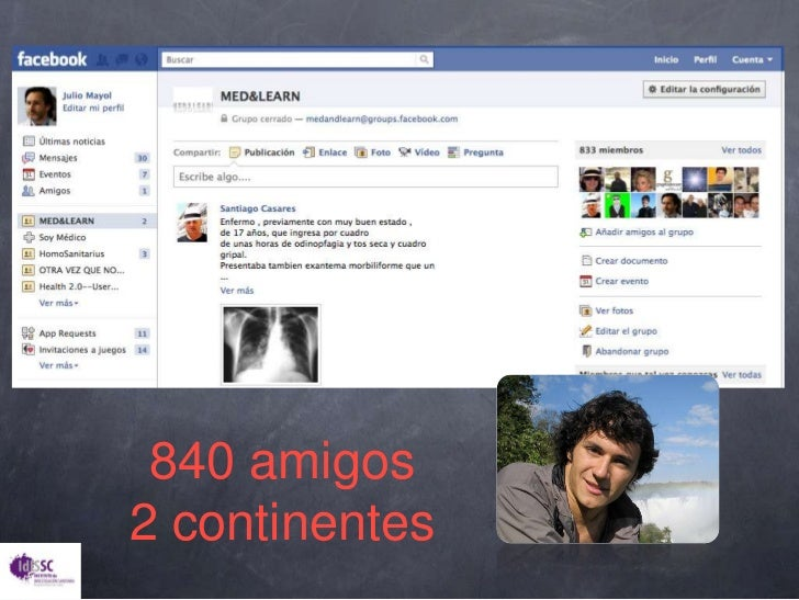 840 amigos<br />2 continentes<br />