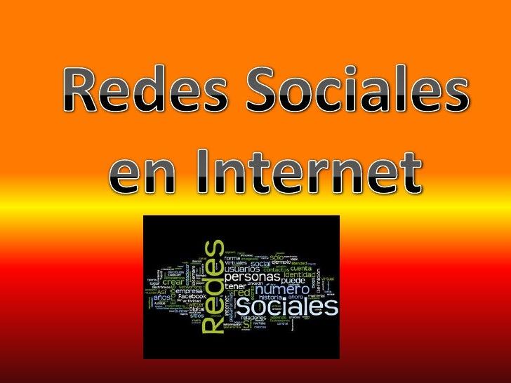 Redes Sociales en Internet<br />