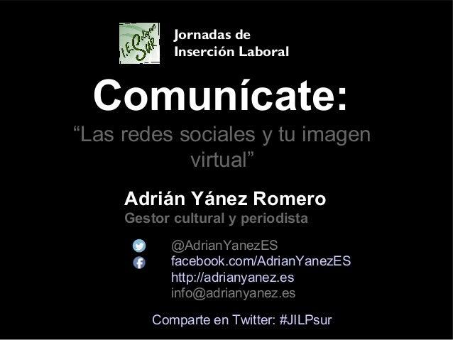 Comunícate: Adrián Yánez Romero Gestor cultural y periodista @AdrianYanezES facebook.com/AdrianYanezES http://adrianyanez....