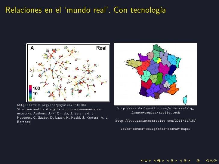 Relaciones en el 'mundo real'. Con tecnolog´                                           ıa   http://arxiv.org/abs/physics/0...