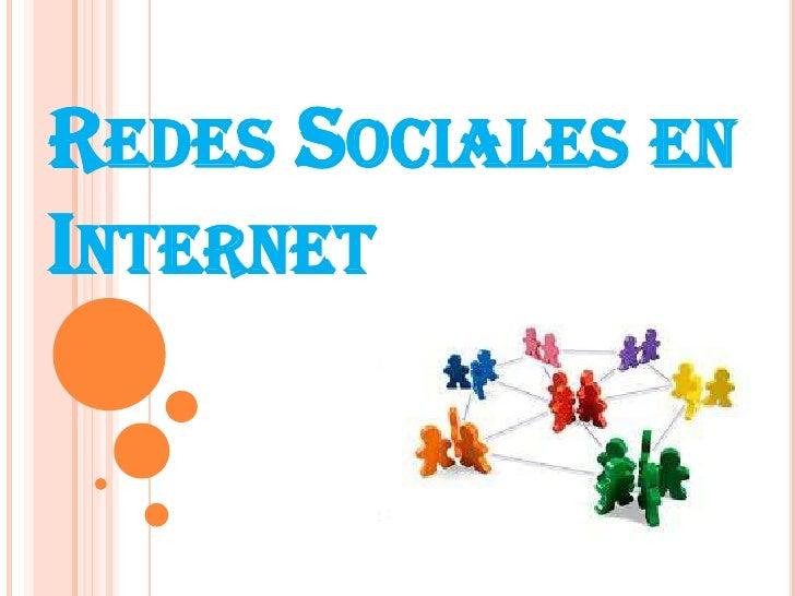 Redes Sociales en Internet <br />