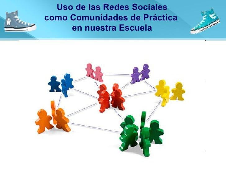 Uso de las Redes Sociales como Comunidades de Práctica  en nuestra Escuela