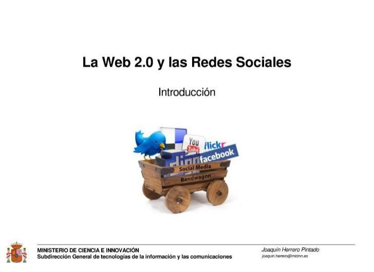 Introducción a las redes sociales y la Web 2.0