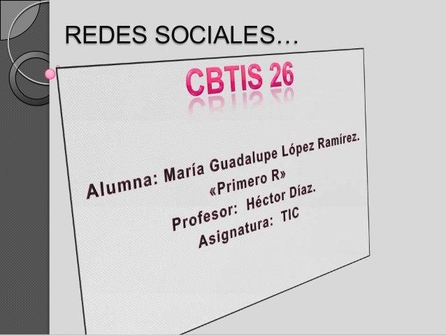 REDES SOCIALES…