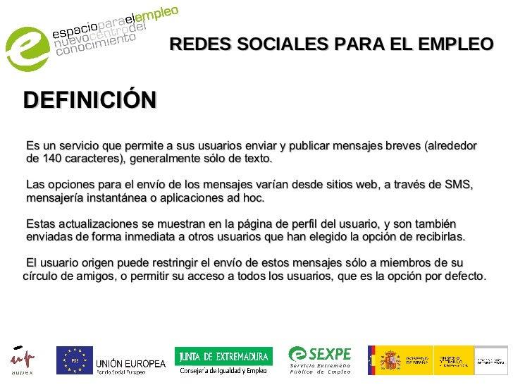 Redes sociales para el empleo for Practica de oficina definicion