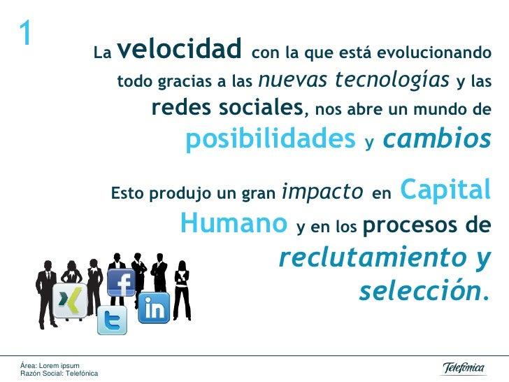 Redes sociales selección de personal Slide 3