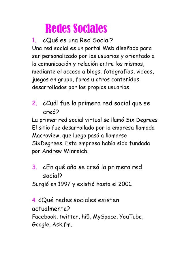 Redes Sociales1. ¿Qué es una Red Social?Una red social es un portal Web diseñado paraser personalizado por los usuarios y ...