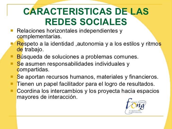 3f832bb179 17. CARACTERISTICAS DE LAS REDES SOCIALES  Relaciones ...