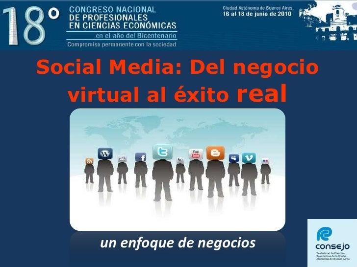 Social Media: Del negocio virtual al éxito real<br />un enfoque de negocios<br />1<br />1<br />Dr. Alberto Zimerman<br />D...