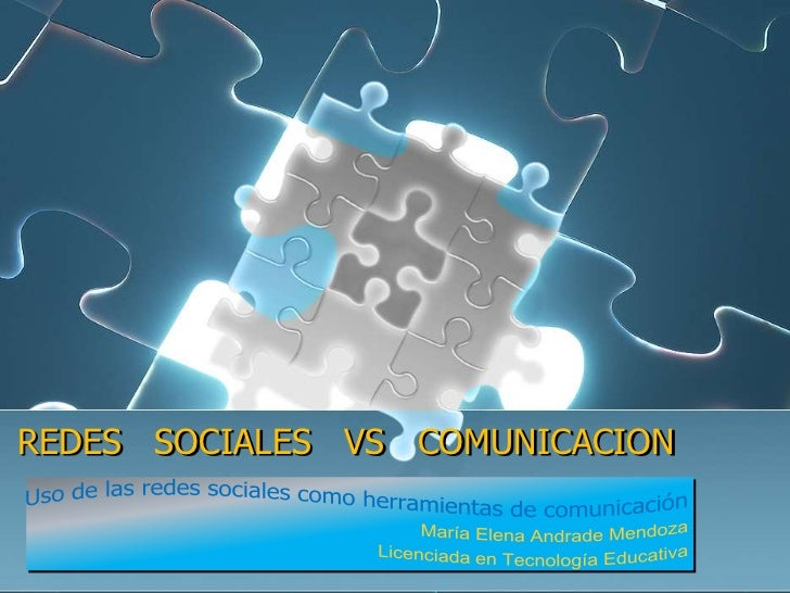 REDES SOCIALES VS COMUNICACION