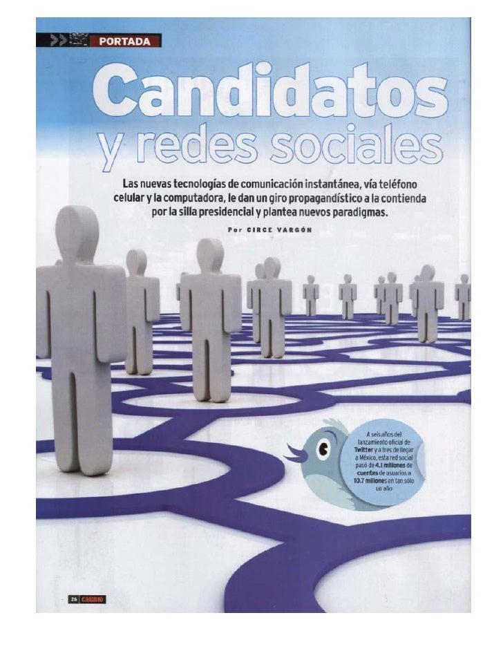Redes sociales y candidatos