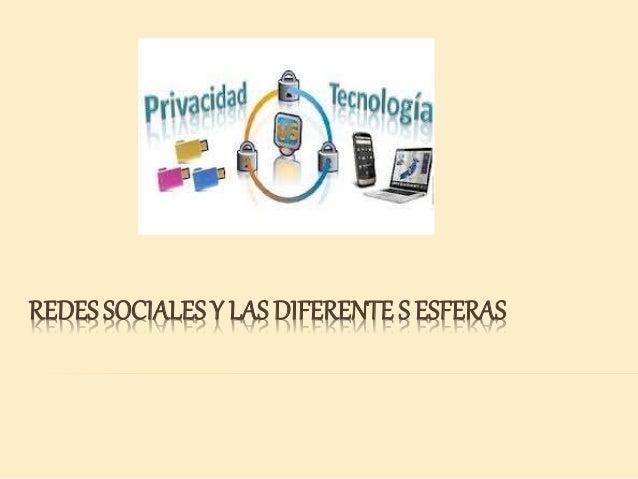 REDES SOCIALES Y LAS DIFERENTE S ESFERAS