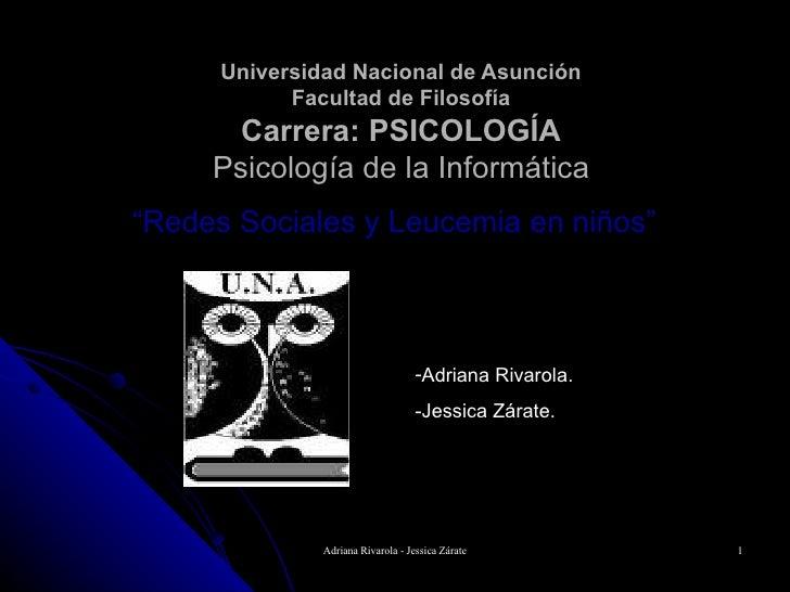 Universidad Nacional de Asunción             Facultad de Filosofía        Carrera: PSICOLOGÍA      Psicología de la Inform...