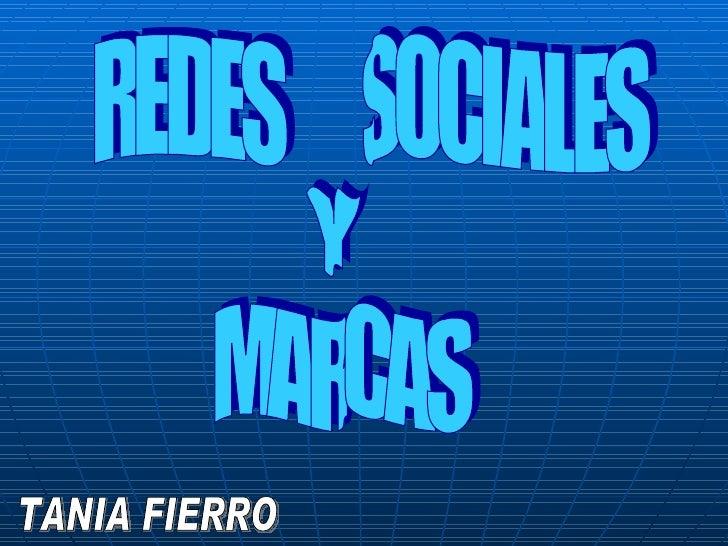 REDES  SOCIALES Y MARCAS TANIA FIERRO