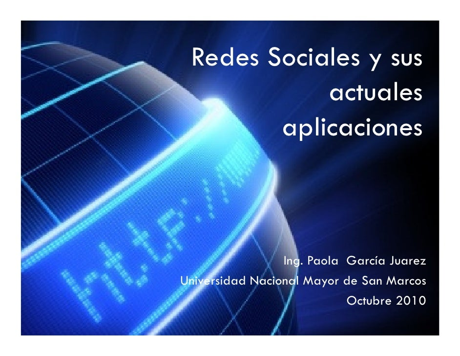Redes sociales y sus actuales aplicaciones