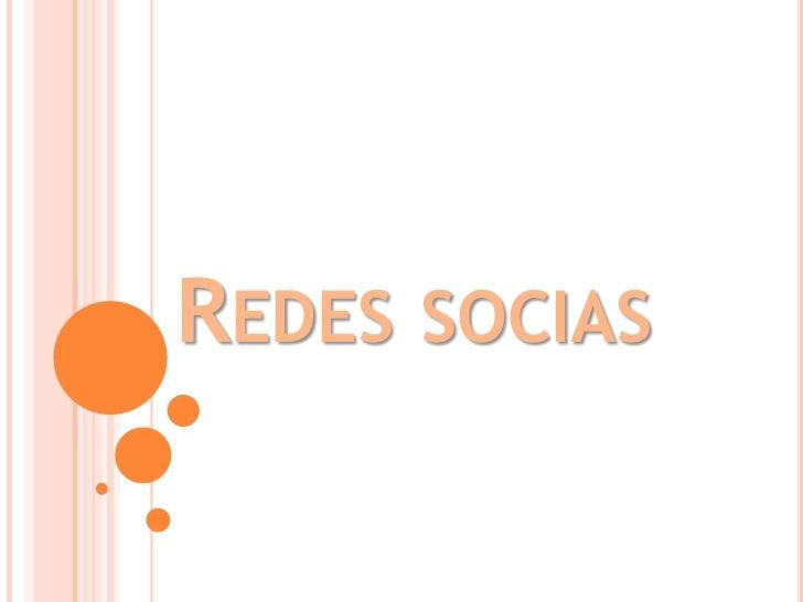 REDES   SOCIAS
