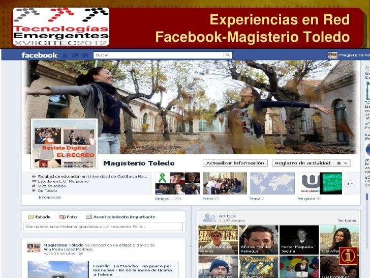 Experiencias en RedFacebook-Facultad Ed Toledo