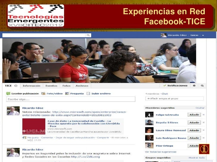 Experiencias en RedFacebook- Campus Toledo