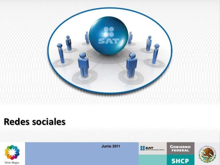 Redes sociales                 Junio 2011