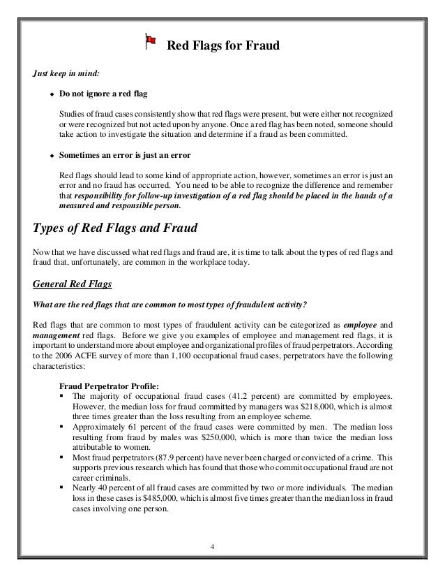 red flags in enron fraud Avoiding accounting fraud  when you think of accounting fraud, enron likely comes to  they should be aware of each and keep an eye out for potential red flags.