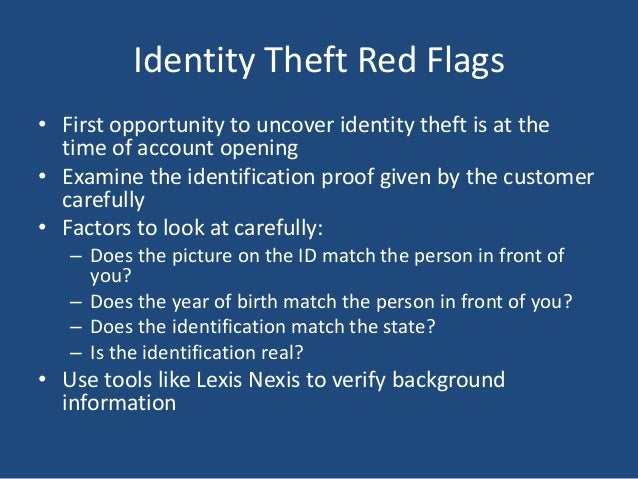 Red Flags Of Money Laundering