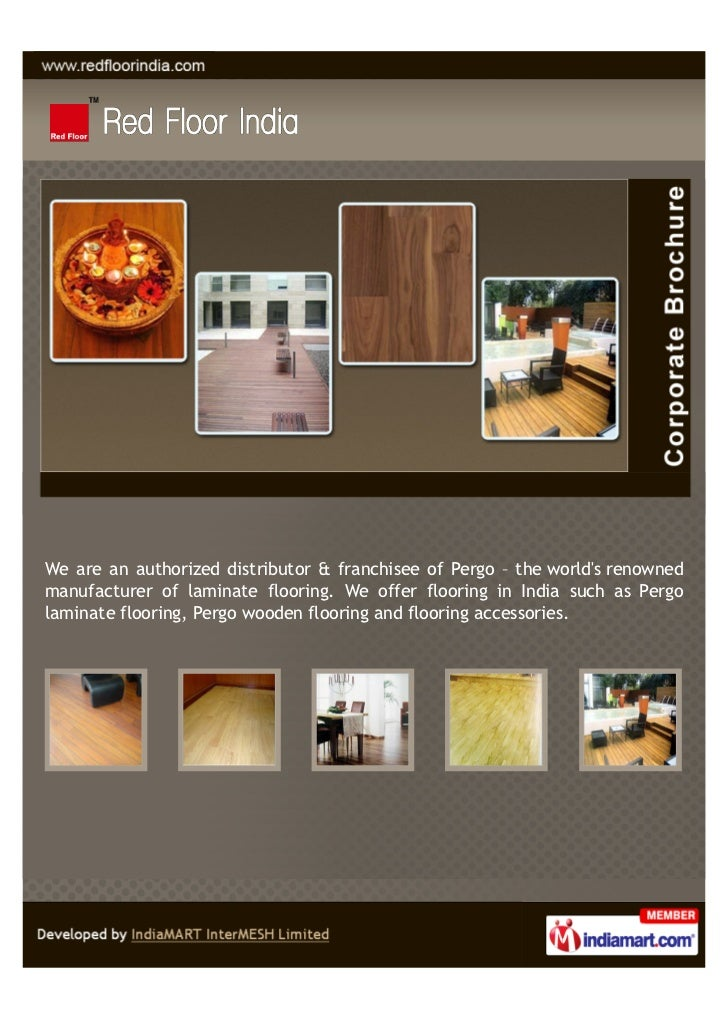 Red Floor India New Delhi Pergo Laminated Wooden Flooring