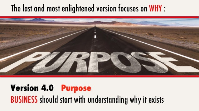 """4.0 Purpose First """"People don't buy what you do, they buy WHY you do it."""" – Simon Sinek"""
