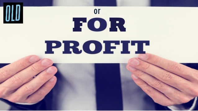 The line between for profit and non profit is blurring
