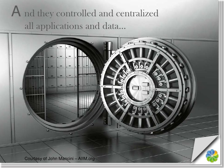 A nd they controlled and centralizedall applications and data…<br />Courtesy of John Mancini – AIIM.org<br />