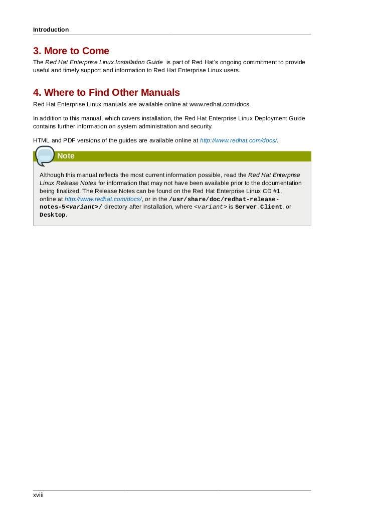 red hat linux manual pdf