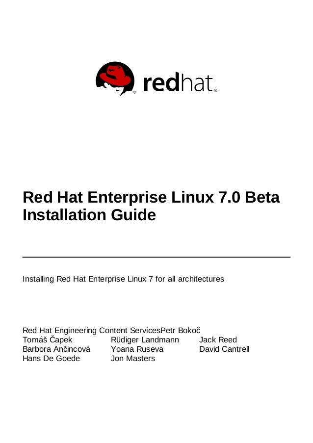 Red Hat Engineering Content ServicesPetr Bokoč Tomáš Čapek Rüdiger Landmann Jack Reed Barbora Ančincová Yoana Ruseva David...
