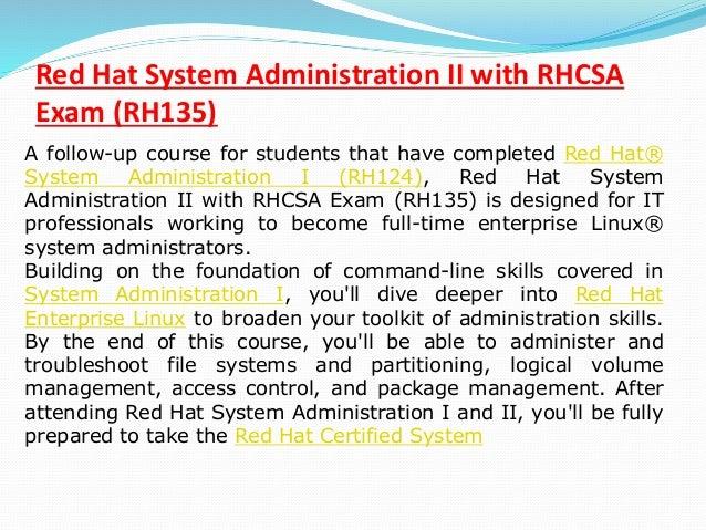 red hat linux training pdf