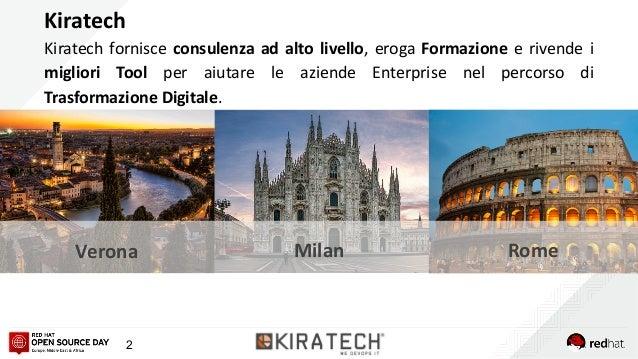 2 Kiratech fornisce consulenza ad alto livello, eroga Formazione e rivende i migliori Tool per aiutare le aziende Enterpri...