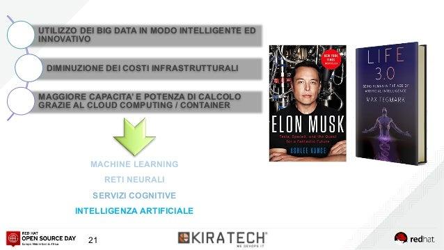 21 MACHINE LEARNING RETI NEURALI SERVIZI COGNITIVE INTELLIGENZA ARTIFICIALE UTILIZZO DEI BIG DATA IN MODO INTELLIGENTE ED ...