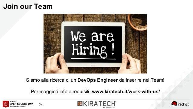 Join our Team Siamo alla ricerca di un DevOps Engineer da inserire nel Team! Per maggiori info e requisiti: www.kiratech.i...