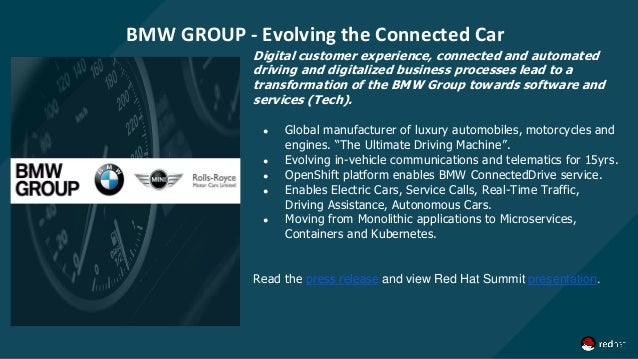 BMW GROUP - Evolving the Connected Car Digital customer experience, connected and automated driving and digitalized busine...